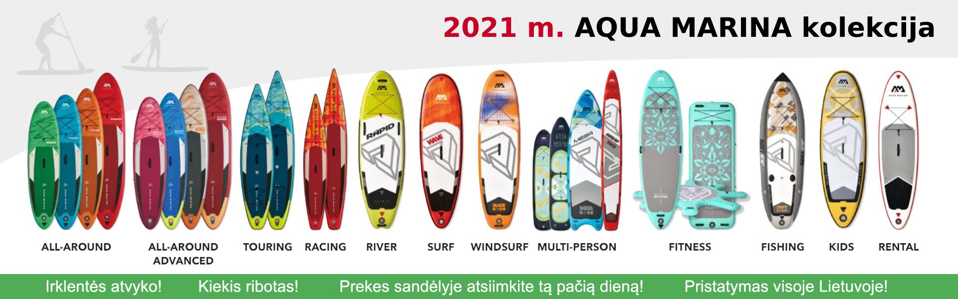 2021 metų Aqua Marina irklenčių kolekcija